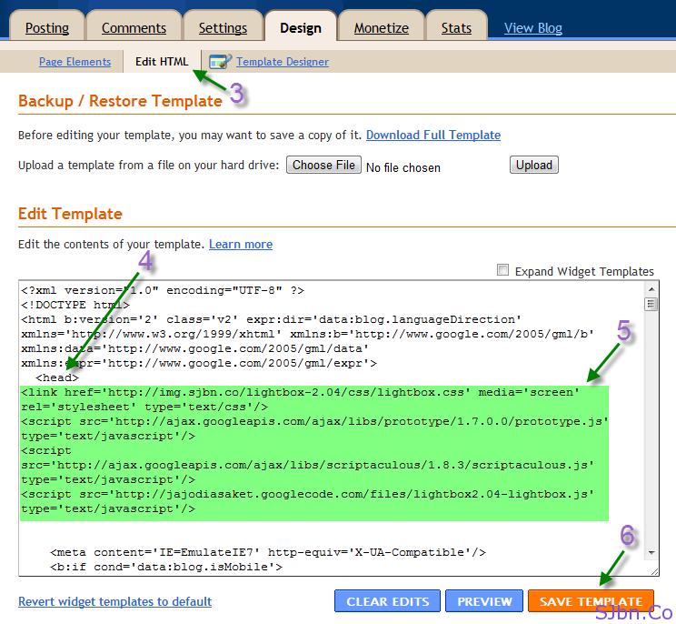 Design -- Edit HTML