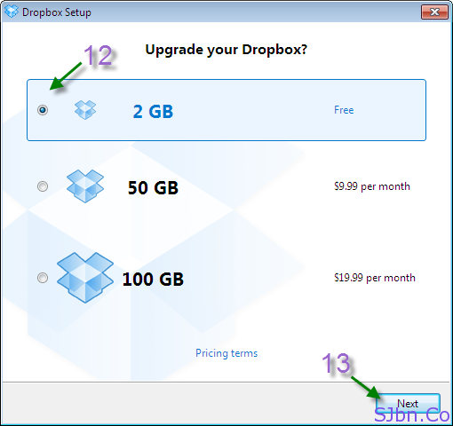 Upgrade your Dropbox