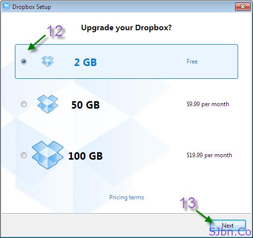 Upgrade your Dropbox