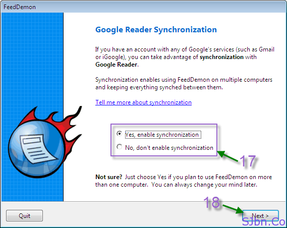 FeedDemon - Google Reader Synchronization