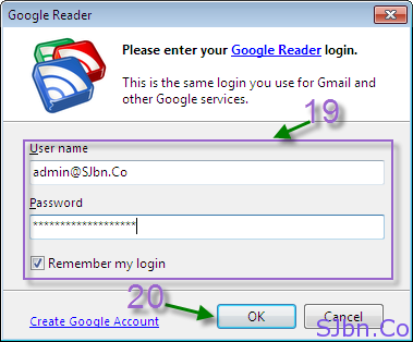 FeedDemon - Please enter your Google Reader login.