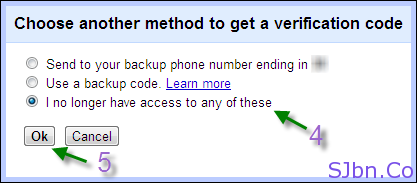 Google 2-step verification -  I no longer have access to any of these