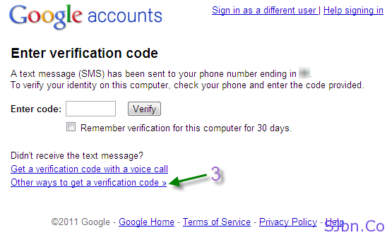 Google 2-step verification - Other ways to get a verification code »
