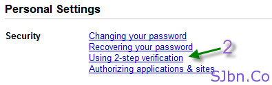 Google 2-step verification - Personal Settings -- Security