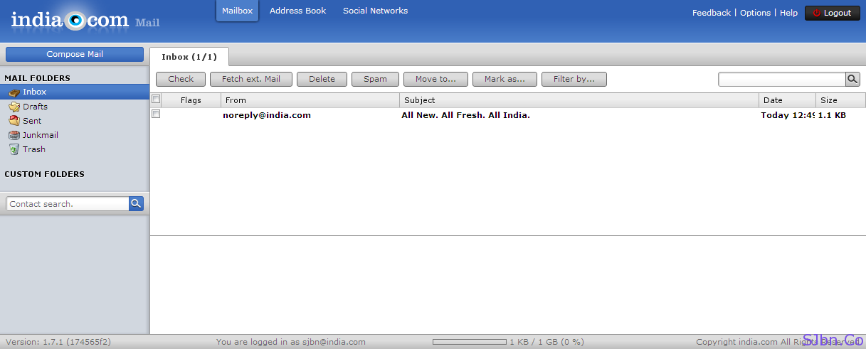 India.com email first look
