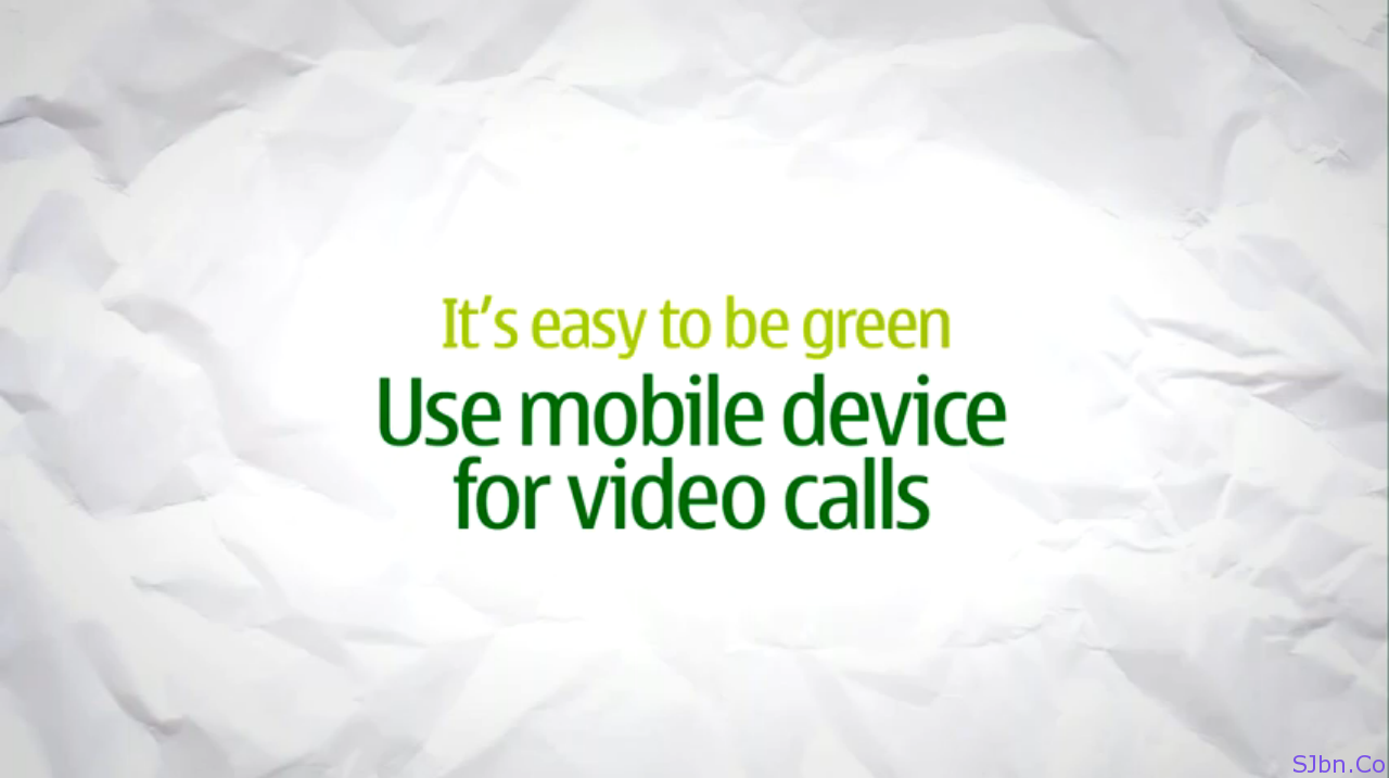 It's easy to be green - Use mobile device for video calls
