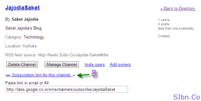 New SMS Channel ready