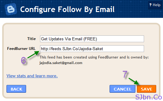 Configure Follow By Email