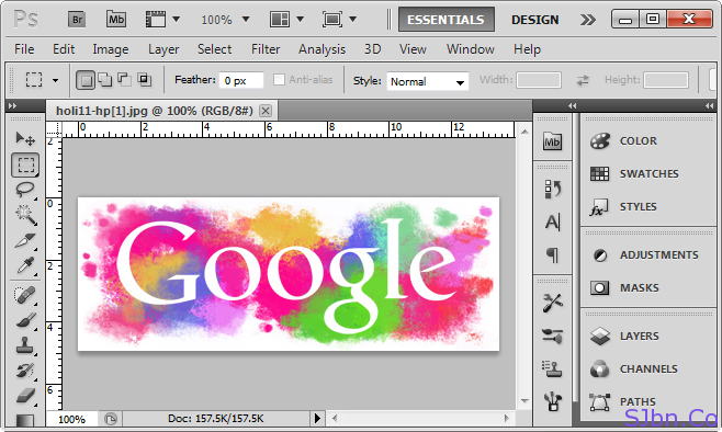 Google Holi Logo In PhotoShop