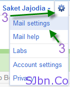 Options icon -- Mail settings