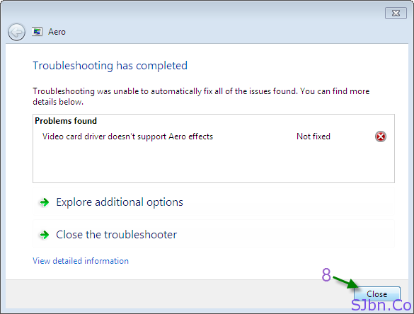 Troubleshooting has completed