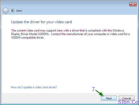 Update the driver for your video card
