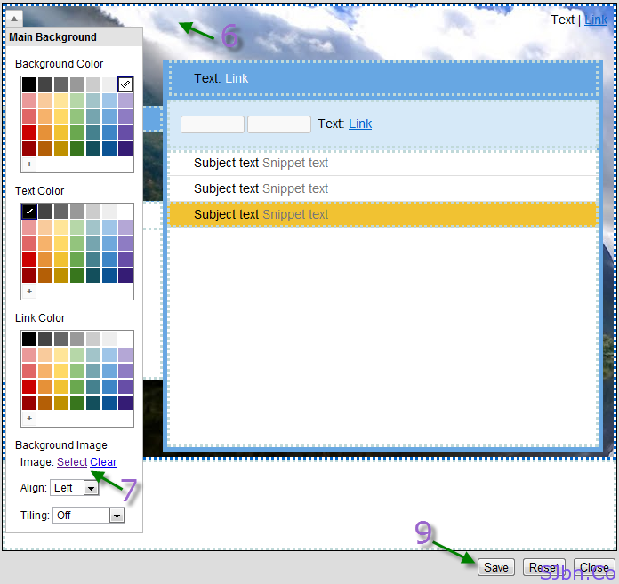 Change Background Image option in Gmail
