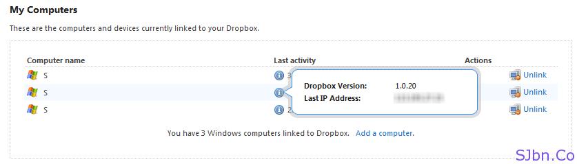 Dropbox Login Details