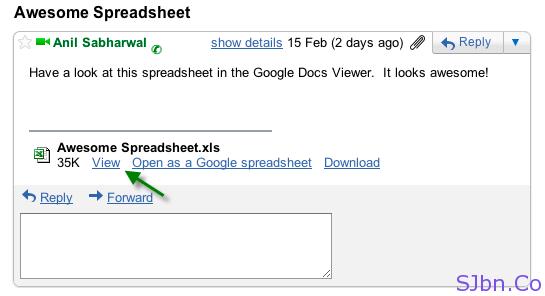 Gmail Attachment