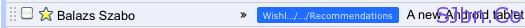 Gmail shrieked Long label