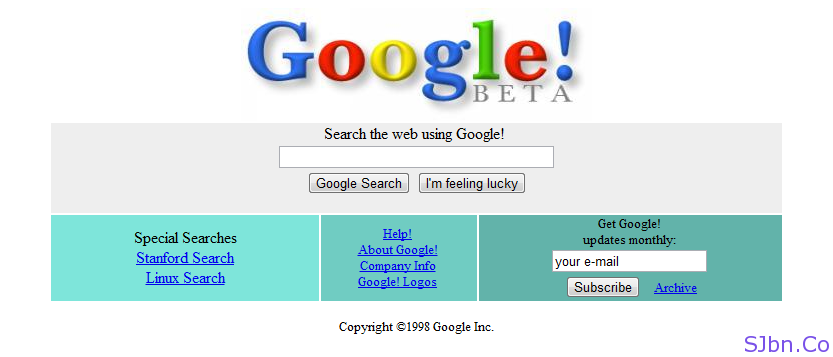 google 1998. Let me show you how Google