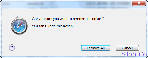 Safari - Are you sure you want to remove all cookies - Remove All