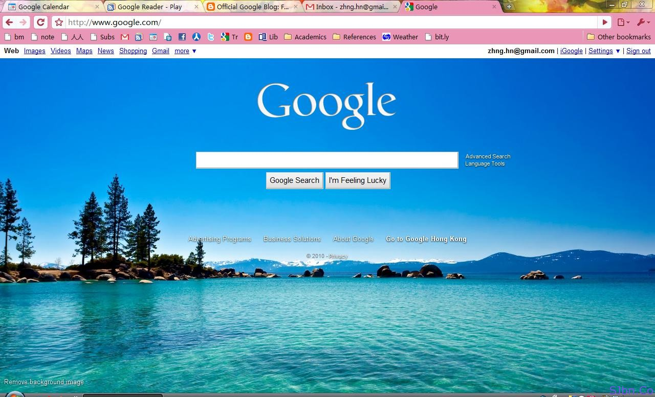 Personalized Google Homepage By @hanrizon - 1tyrnh