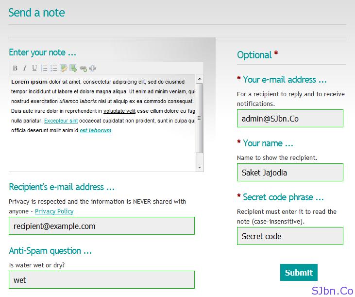 Whisper Bot - Send a note