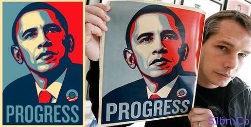 Barack Obama's Hope poster by Shepard Fairey
