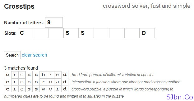 Crosstips - crossword