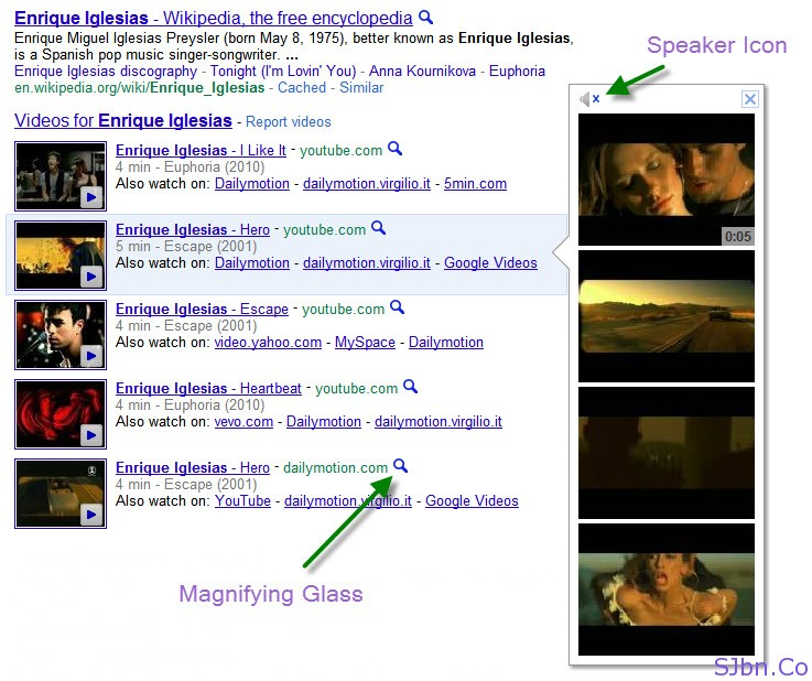 Google Instant Video Preview In Search Result Page