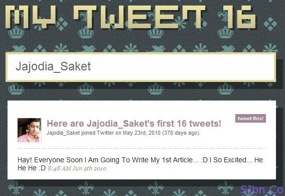 My Tweet 16 - Jajodia_Saket