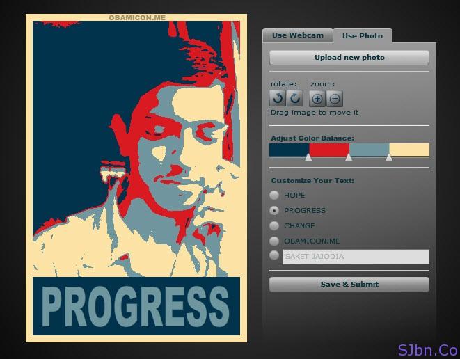 Saket Jajodia's Hope poster by Obamicon.me
