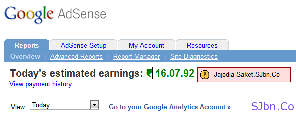 Fake AdSense Report