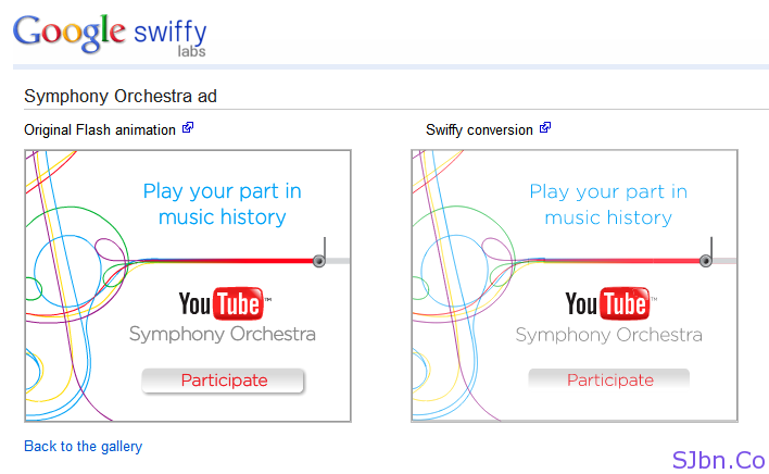 Google Swiffy - Symphony Orchestra ad