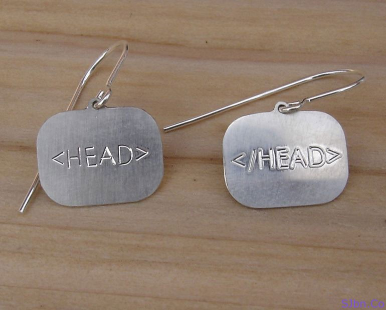Head Tag Earrings