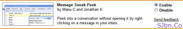 Message Sneak Peek