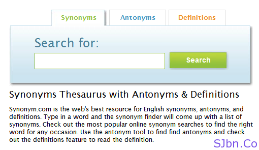 Synonyms - Antonyms - Definitions
