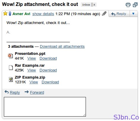 Zip and RAR in Gmail