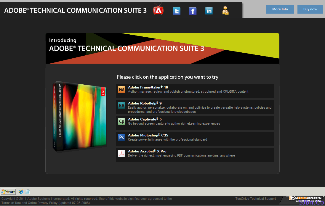 Adobe Technical Communication Suite Test-Drive (Trail)
