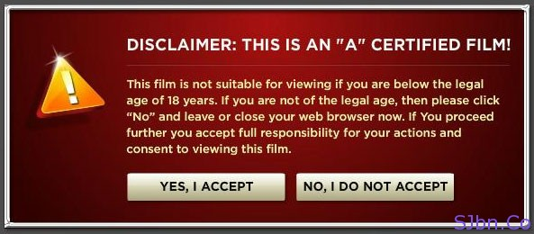 "DISCLAMER: THIS IS AN ""A"" CERTIFIED FILM!"