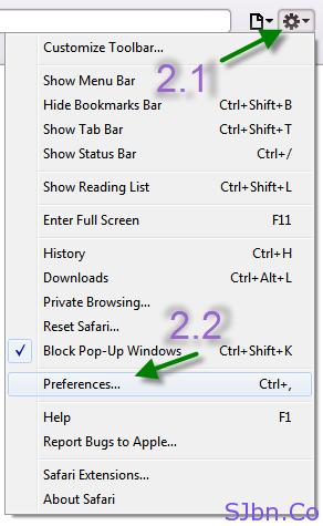 Settings icon -- Preferences