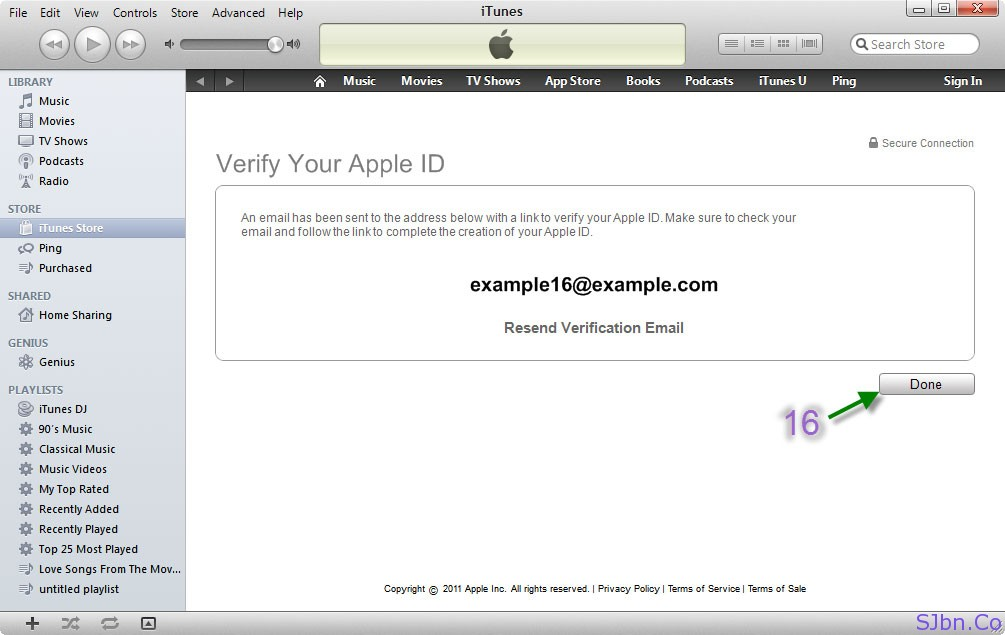 Verify Your Apple ID - Done button