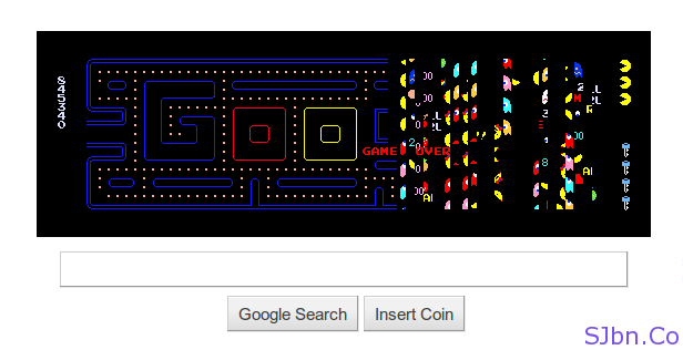 Google Pac-Man Game Over