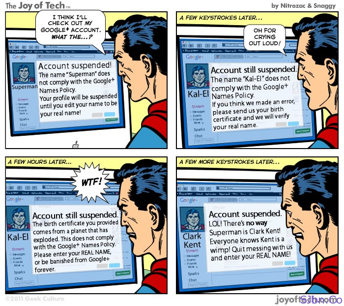 Superman Vs. Google+ (Plus)