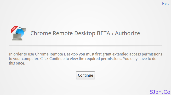 Chrome Remote Desktop BETA › Authorize