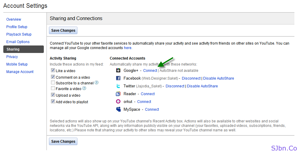 Conntect Google+ With YouTube
