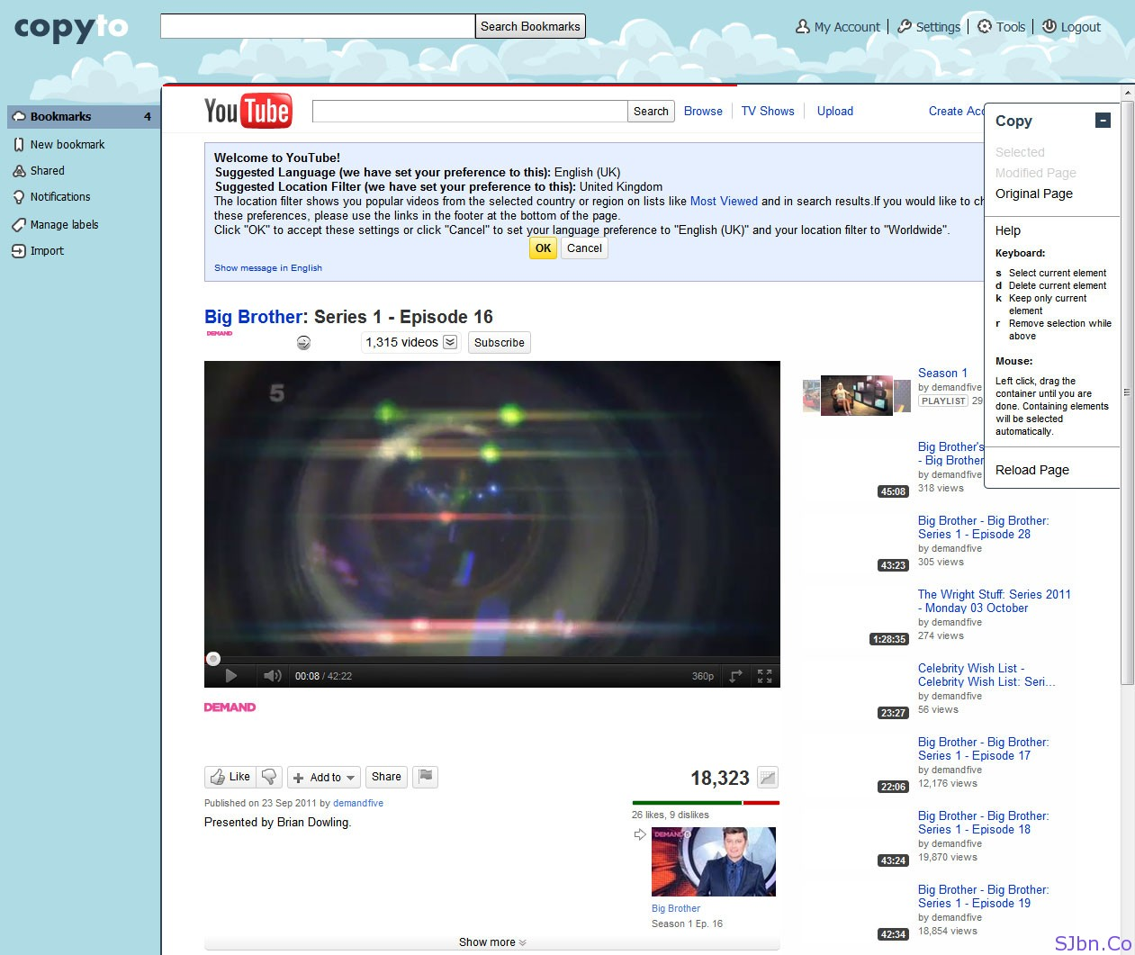 CopyTo.Co As UK Proxy To Access YouTube Video