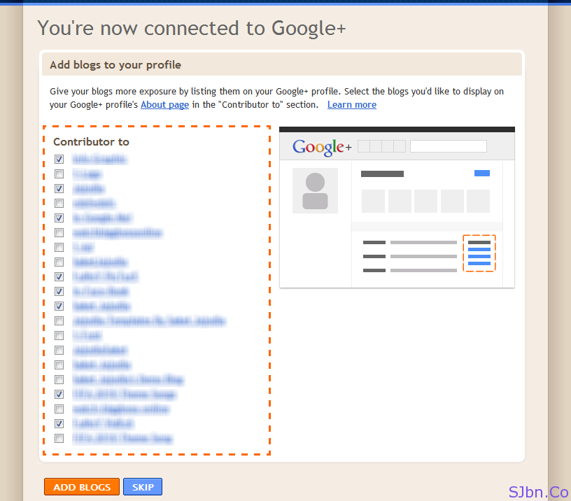 You're now connected to Google+
