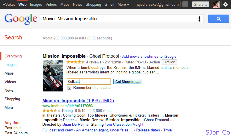 Google Search - Movie- Mission Impossible