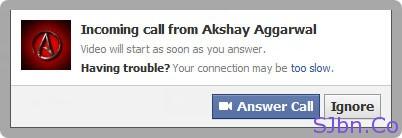 Incoming call - Answer Call