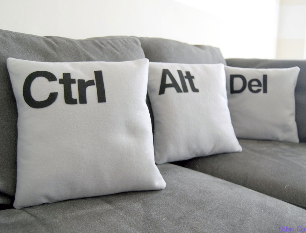 Task Manager Pillow set of Ctrl+Alt+Del