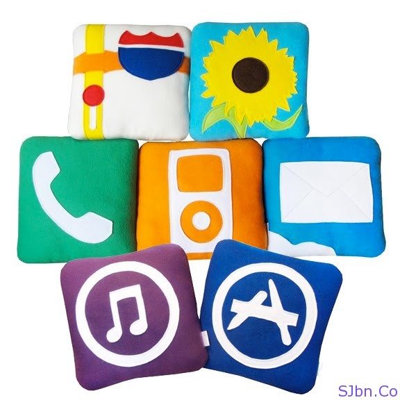 iPhone Icons Pillows - iPillows