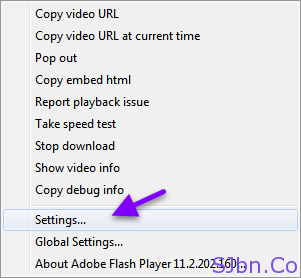 Flash Video Player - Settings…